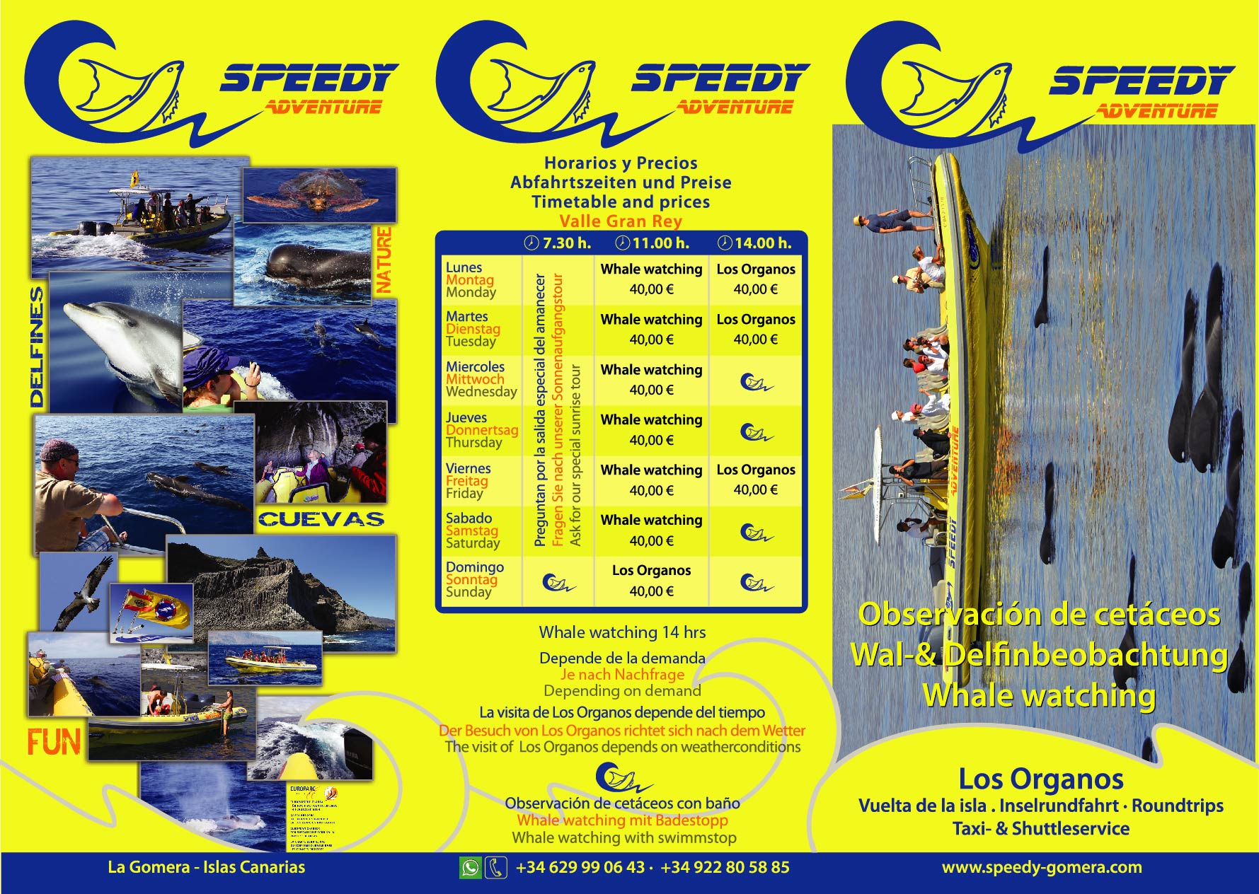 Horario actual: Speedy Adventure, La Gomera